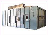 Down-Draft Spray Booths with Concrete Pits